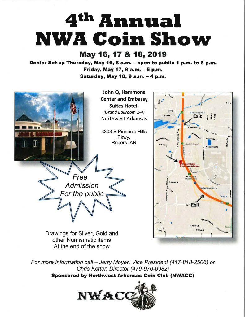 2019 Northwest Arkansas Coin Show
